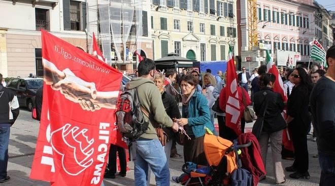 Protesta vigilanza privata de ferrari