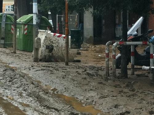 strade fango