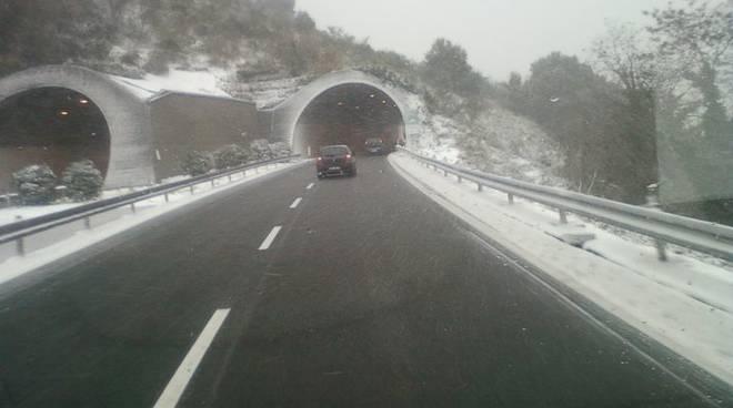 A10 Spotorno sotto la neve