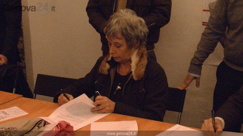 Marta Vincenzi firma patto per Libera Maddalena
