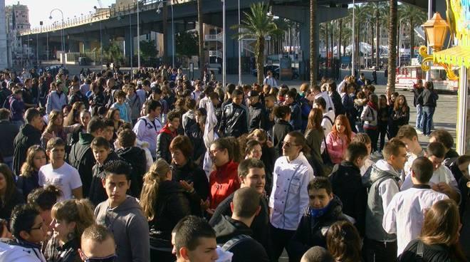 Protesta studenti Genova 4 novembre