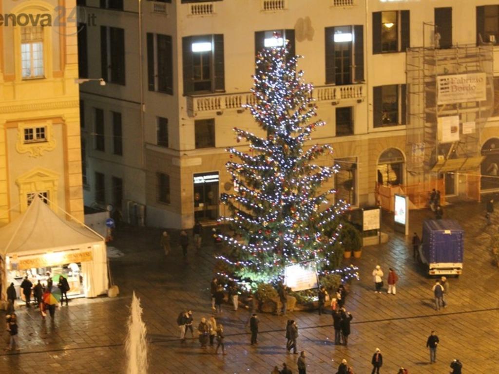 Genova - De Ferrari albero di Natale