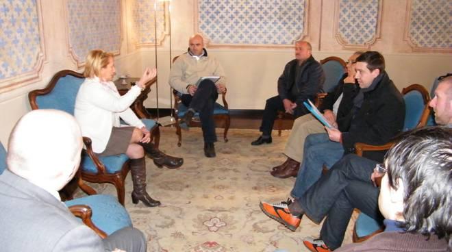 Guarnieri incontra delegazione per frana