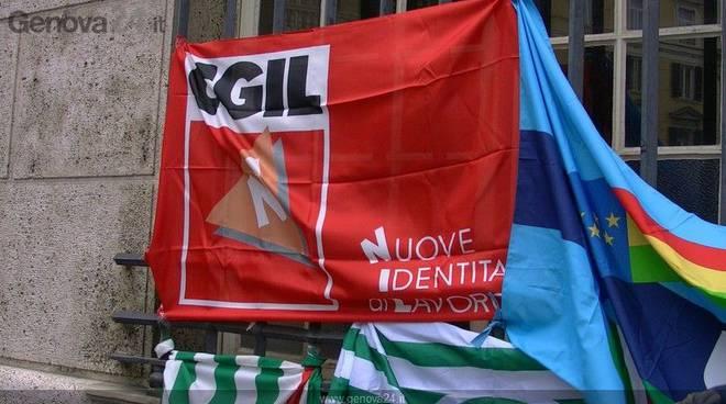 Protesta lavoratori INPS Genova