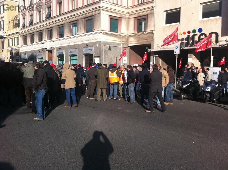 protesta lavoratori Iren