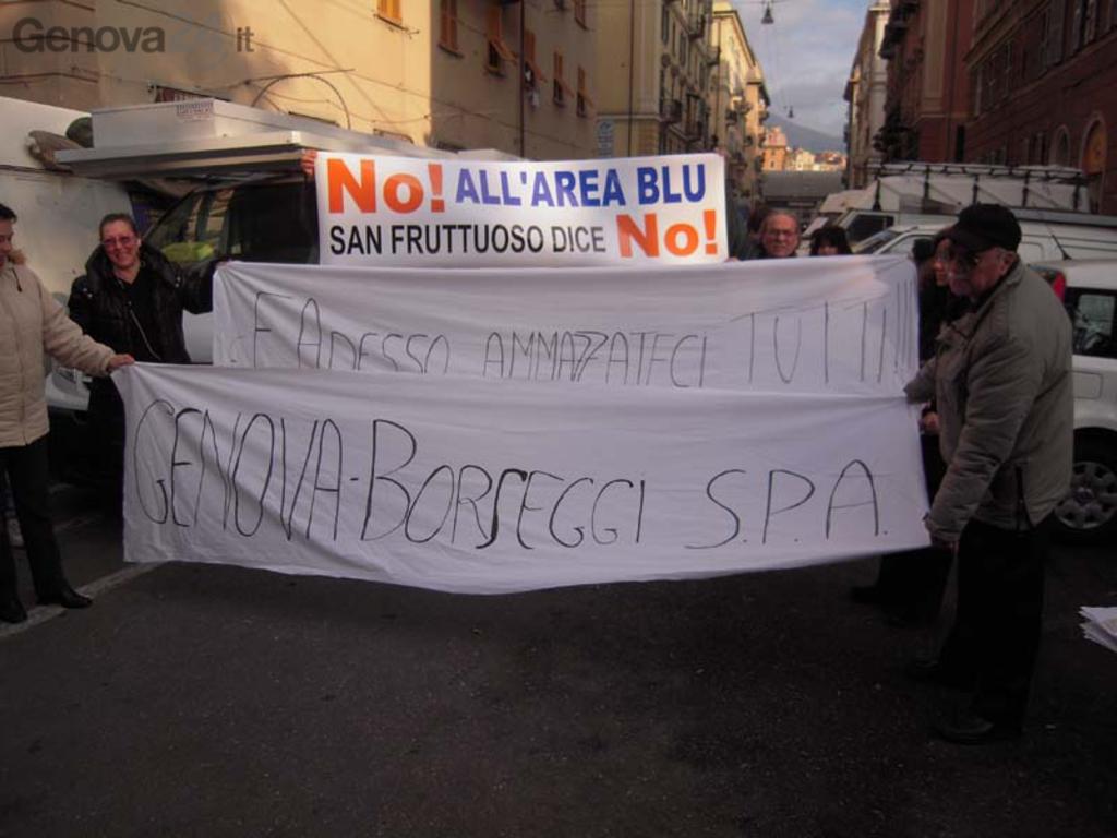 protesta no blu area