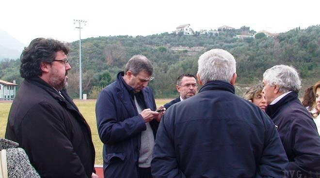 Boissano - pista d'atletica visita Burlando Vaccarezza