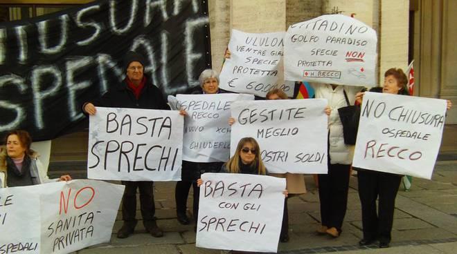 Protesta sanità regionale febbraio 2011