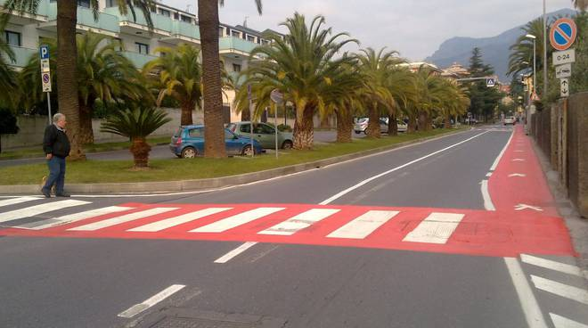 Put Loano: strisce pedonali
