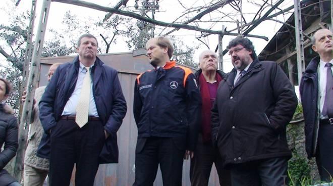 Sopralluogo Burlando a Varazze - 22 febbraio 2011