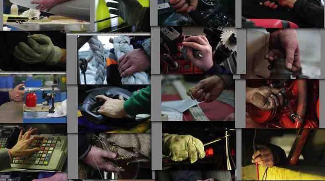 collage mani lavoratori