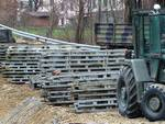 Murialdo - militari al lavoro costruzione ponte
