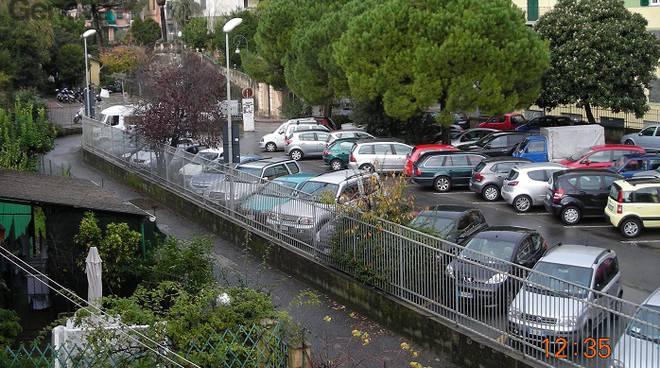 parcheggio via Betti rapallo, depuratore