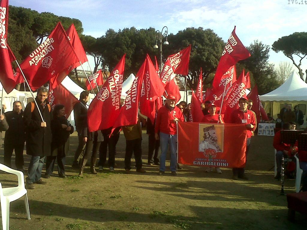Psi Unità d'Italia festa Roma