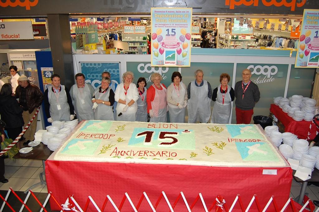 torta per i 15 anni del Gabbiano
