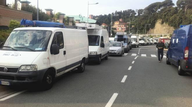 Protesta ambulanti Varazze