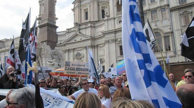 protesta balneari a Roma