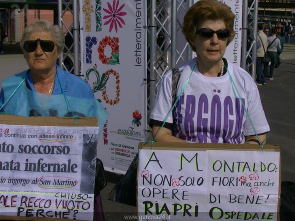 Protesta ospedale recco