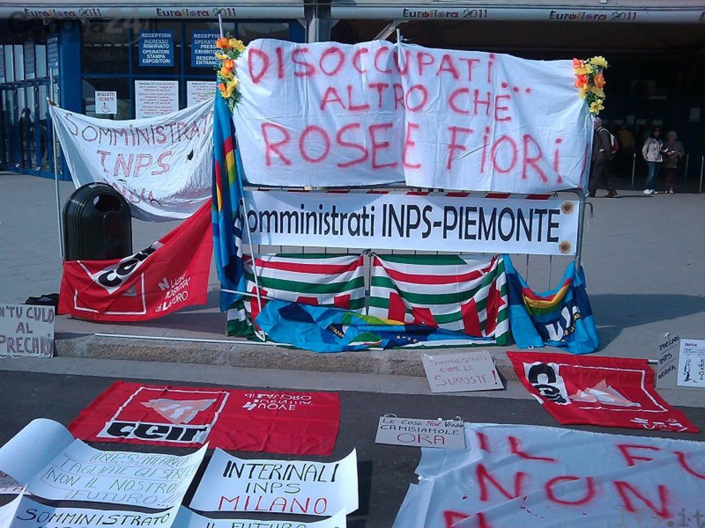 Proteste inaugurazione Eurofloca 2011