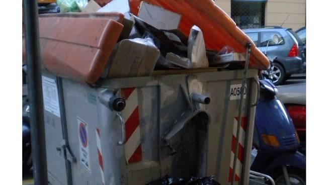 spazzatura, rifiuti, cassonetto