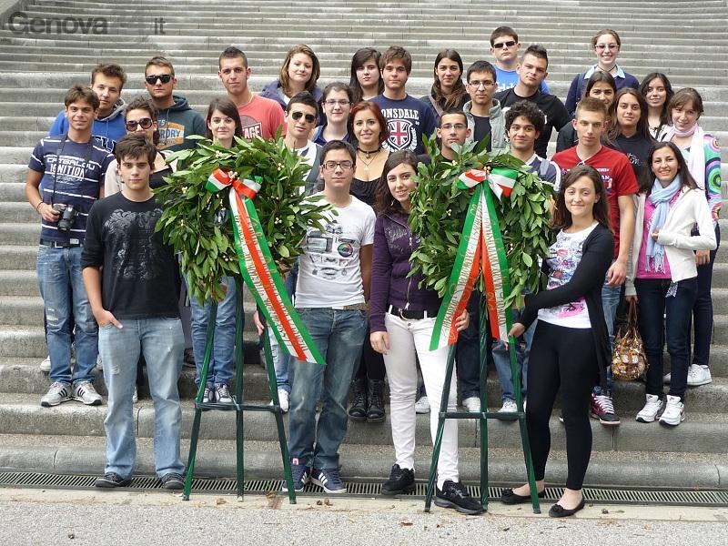 delegazione studenti a redipuglia