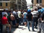 Genova - protesta fincantieri
