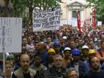 Sestri Ponente manifestazione pro Fincantieri
