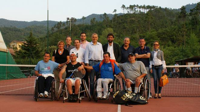 Garlenda torneo tennis in carrozzina