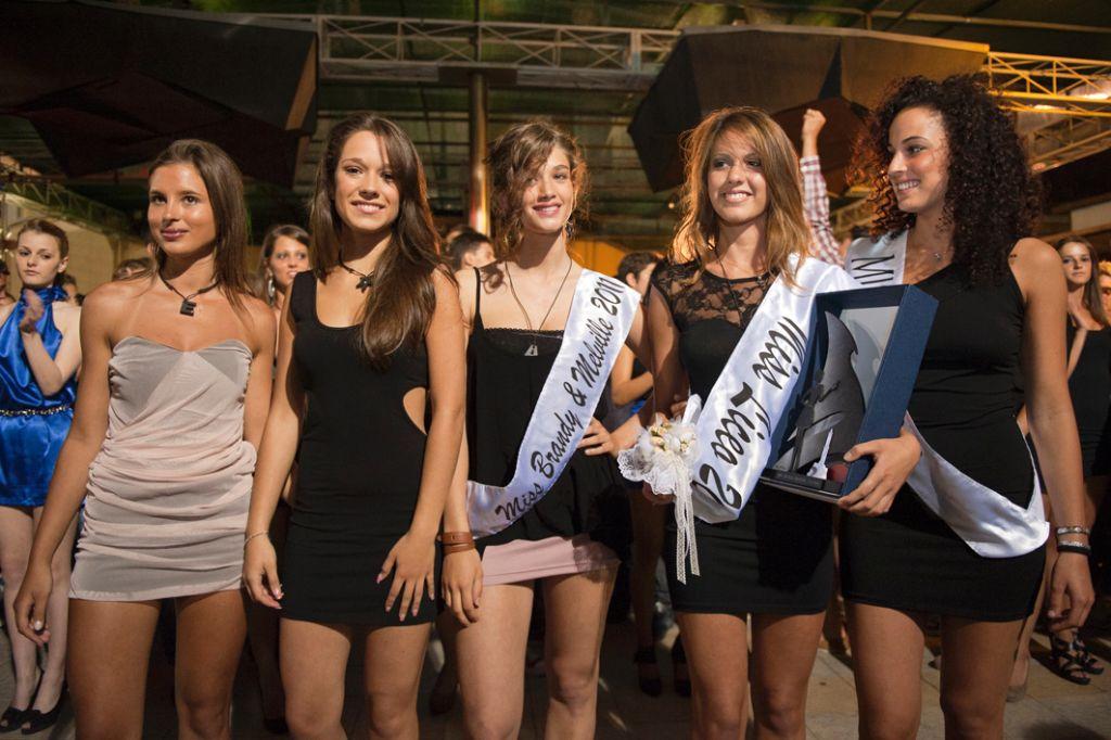 Il podio Miss Liceo 2011 con Martina Scorza