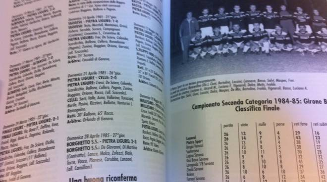 Libro calcio Pietra Ligure