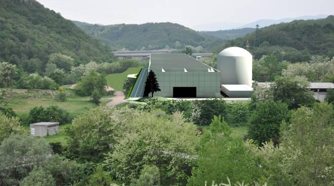 Ferrania Ecologia impianto compostaggio (rendering)
