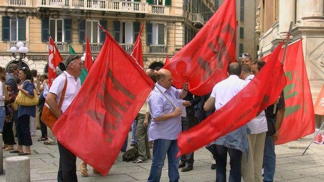manifestazione - confindustria - terzo valico - sindacati