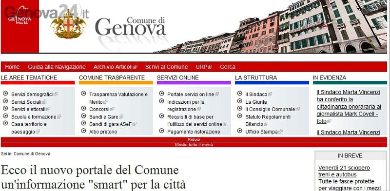 portale internet comune