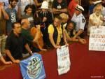 Protesta Amiu in Comune di Genova