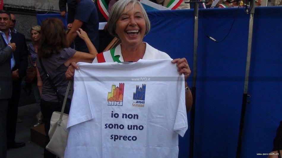 Manifestazione Anci a Milano protesta dei liguri