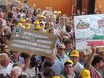Manifestazione Anci a Milano - protesta dei liguri