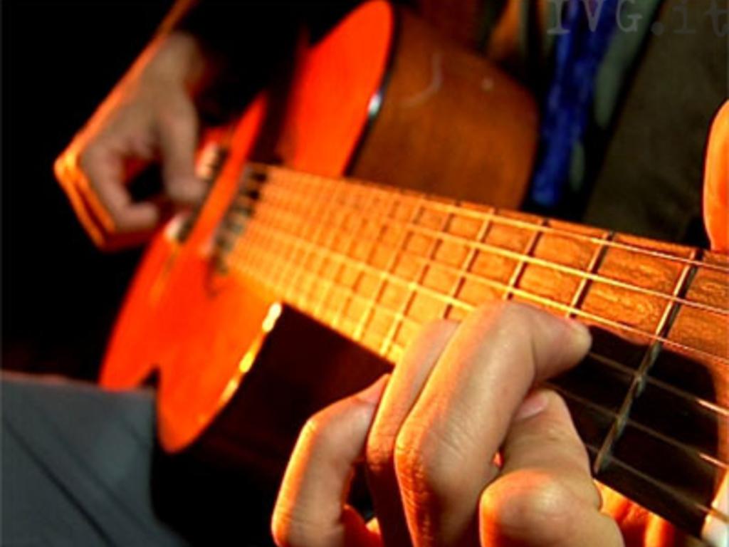 Chitarra strumento luce