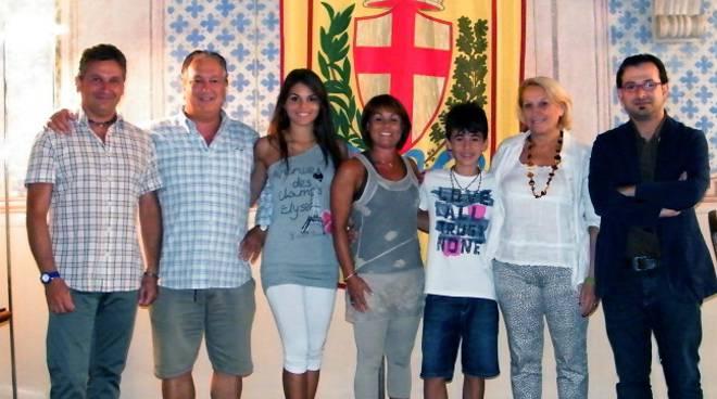 Famiglia Marano dal sindaco