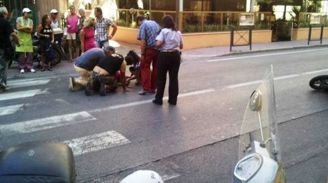 Incidente Pietra Ligure corso Italia