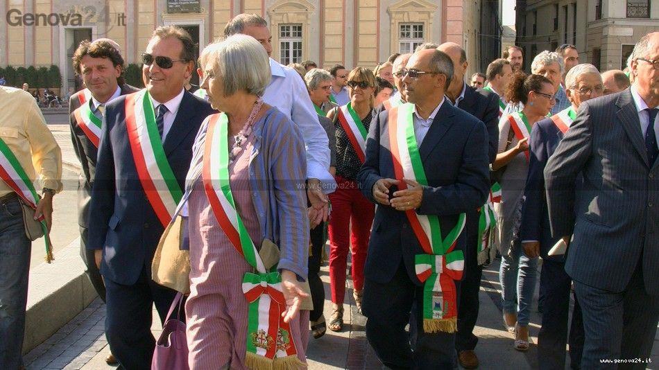 Manifestazione Sindaci anci Genova