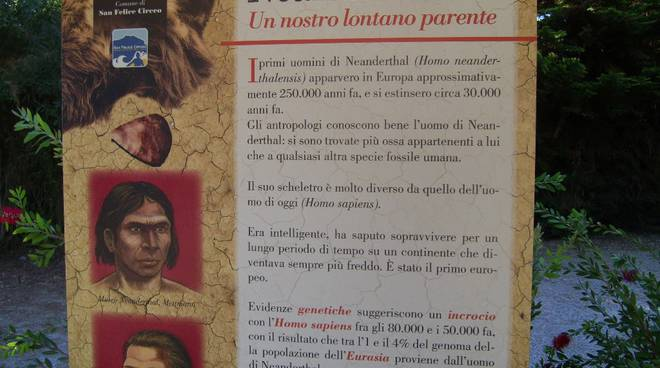 mostra circeo neanderthal