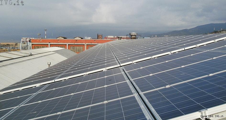 pannelli solari di Ferrania Solis impianto Porto di Genov