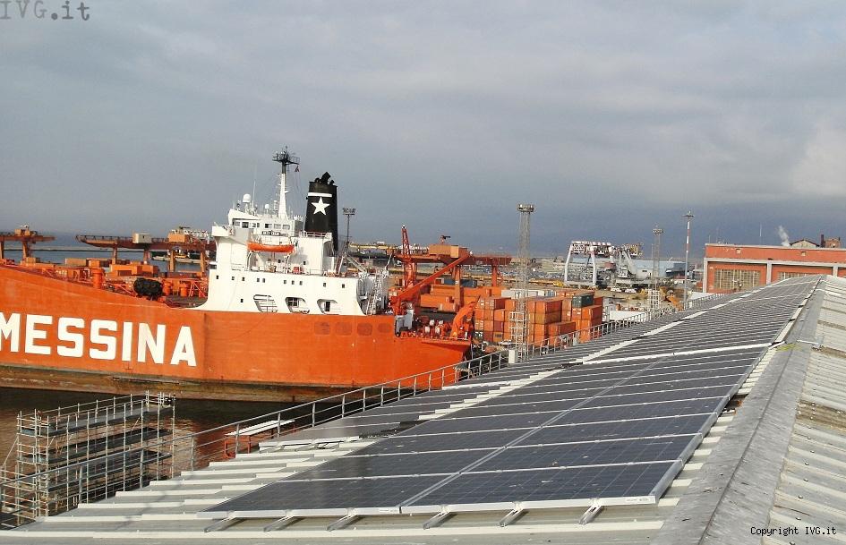 pannelli solari di Ferrania Solis impianto Porto di Genova