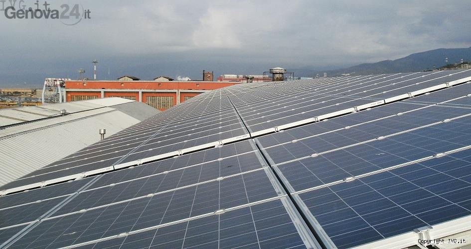 Pannelli solari Messina Ferrania Solis porto antico Genova