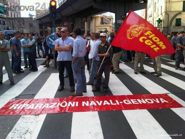 protesta riparazioni navali