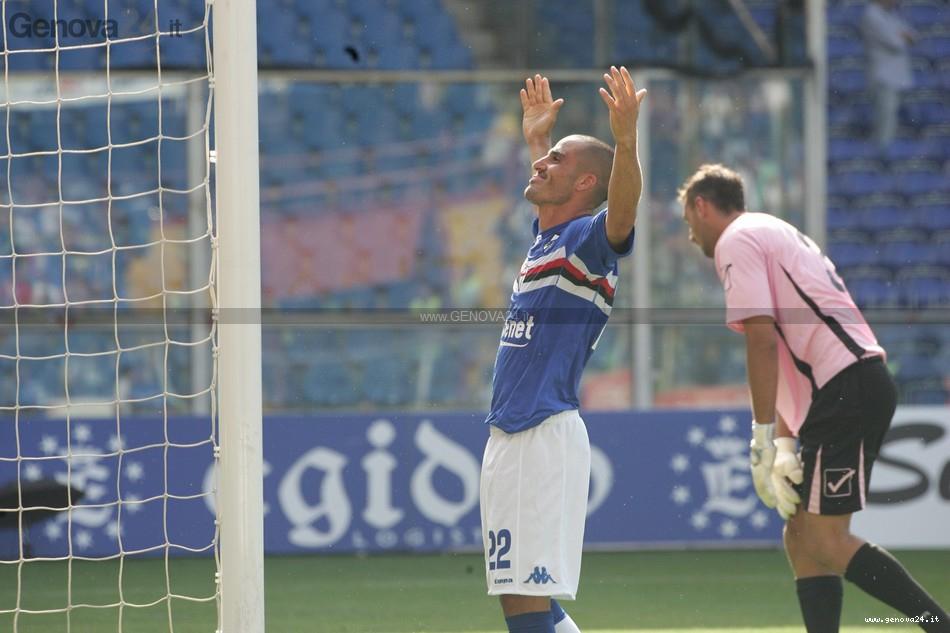 Sampdoria - Esultanza al gol di Cristian Bertani