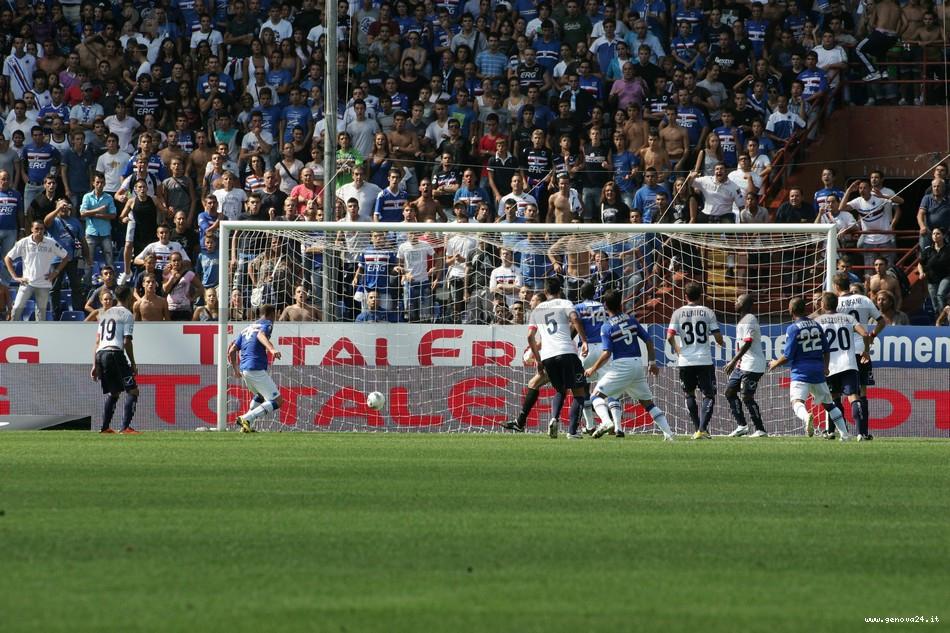 Sampdoria - Il gol di Massimo Volta