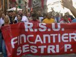 Fincantieri protesta