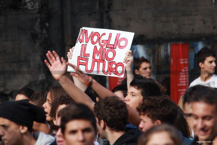 Genova - Protesta Studenti ottobre 2011