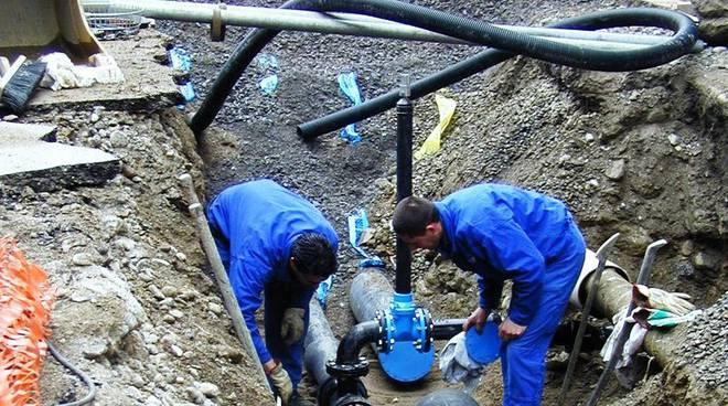 lavori acquedotto